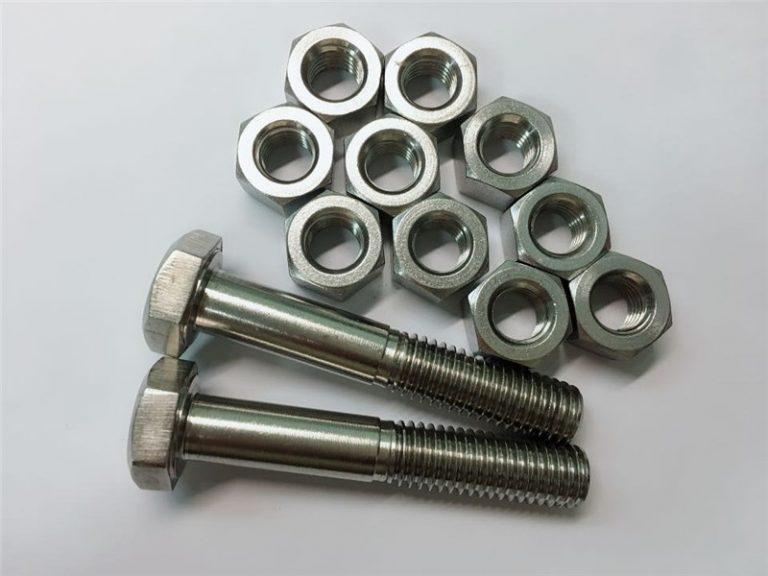 aleación 20 pernos y tuercas sujetador de acero inoxidable uns n08020