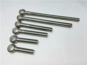 NO.38-904L 1.4539 UNS N08904 Perno de ojo, pernos personalizados para montaje de válvulas