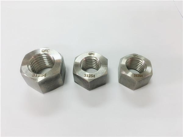 tuerca hexagonal dúplex de acero inoxidable 2205 / s32205