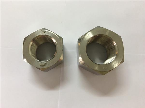 fabricar aleación de níquel a453 660 1.4980 tuercas hexagonales