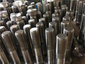 N ° 12 tornillos hexagonales ISO4014 media rosca A193 B8, B8M, B8T, B8C SS sujetador