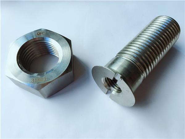 Perno y tuerca de cadena de hardware de metal de acero al carbono personalizados