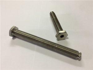 No.64-Sujetador de titanio hueco con orificio pasante Aleación de titanio 6Al4V Llave Allen de cabeza de plato