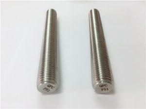 No.77 Duplex 2205 S32205 sujetadores de acero inoxidable DIN975 DIN976 varillas roscadas F51