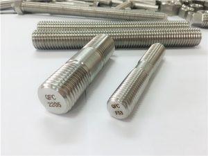 No.80-duplex 2205 S32205 2507 S32750 1.4410 sujetador de hardware de alta calidad ancla de varilla roscada de madera