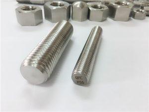 No.81-F55 Zeron100 sujetadores de acero inoxidable varilla roscada completa S32760