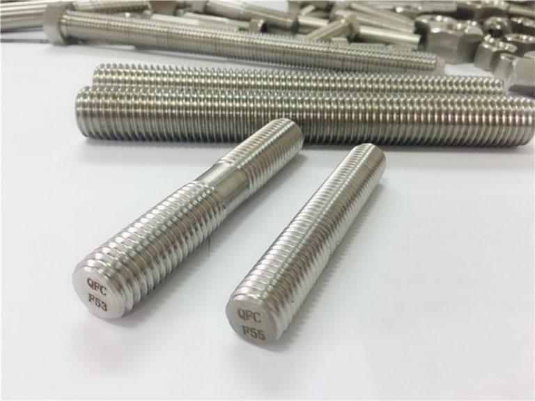 sujetadores de acero inoxidable mecanizados a medida varilla roscada de doble extremo