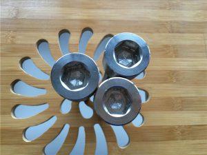 Alta calidad ASEM hexagonal titanio gr2 tornillo / perno / tuerca / arandela /